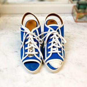 RL Canvas lace up Sandal